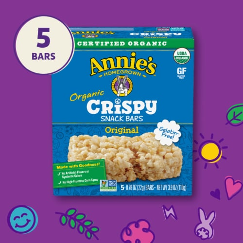 Annie's Organic Original Crispy Snack Bars Perspective: top