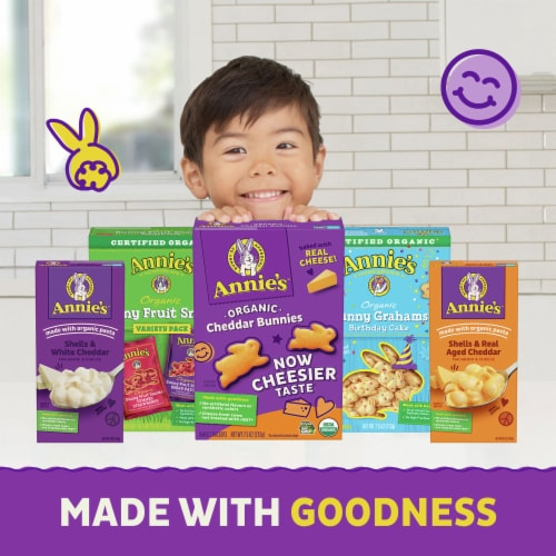 Annie's Shells & Aged Cheddar Macaroni & Cheese Perspective: top