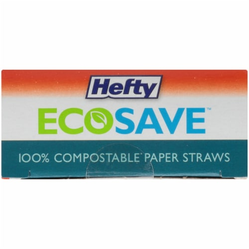 Hefty EcoSave Compostable Paper Straws Perspective: top