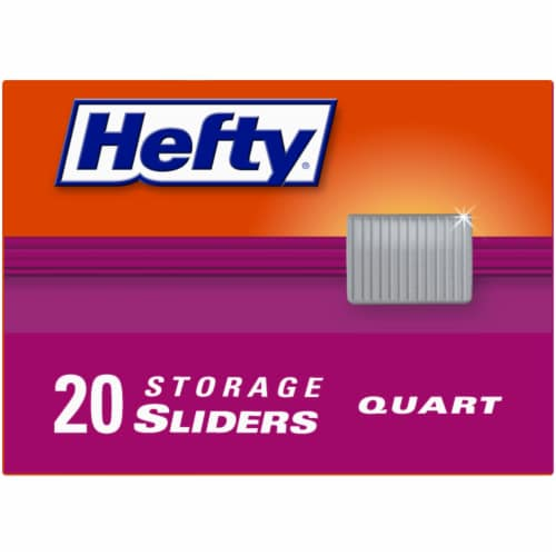 Hefty Clear Quart Storage Slider Bags Perspective: top
