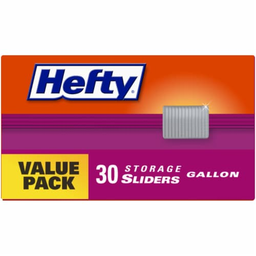 Hefty® Storage Gallon Slider Bags Value Pack Perspective: top