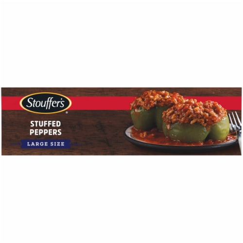 Stouffer's Stuffed Peppers Large Size Frozen Meal Perspective: top
