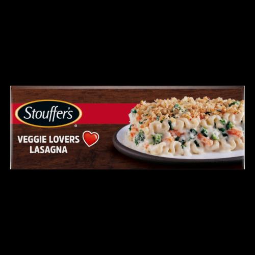 Stouffer's Vegetable Lasagna Frozen Meal Perspective: top