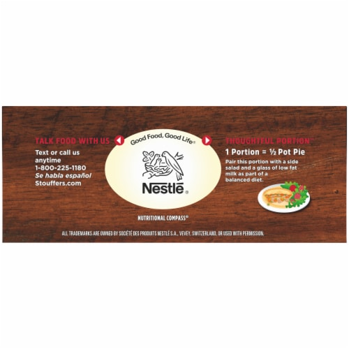Stouffer's White Meat Chicken Pot Pie Frozen Meal Perspective: top