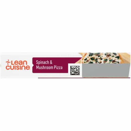 Lean Cuisine Features Spinach & Mushroom Frozen Pizza Perspective: top