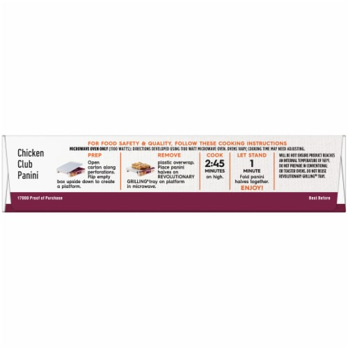 Lean Cuisine Features Chicken Club Panini Frozen Meal Perspective: top