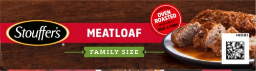 Stouffer's Family Size Meatloaf Frozen Meal Perspective: top