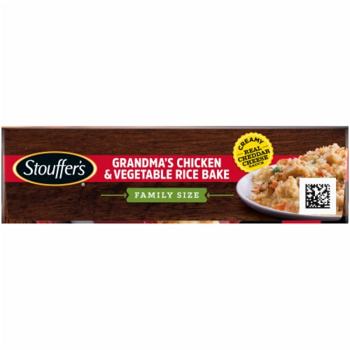 Stouffer's Classics Grandma's Chicken & Vegetable Rice Bake Frozen Meal Family Size Perspective: top