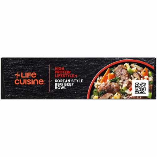 Life Cuisine Korean Style BBQ Beef Bowl Frozen Meal Perspective: top