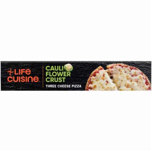 Life Cuisine Gluten Free Lifestyle Cauliflower Crust Three Cheese Pizza Frozen Meal Perspective: top
