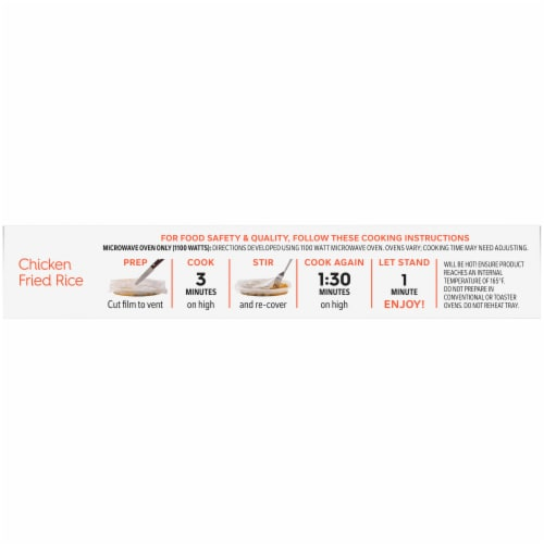 Lean Cuisine Favorites Chicken Fried Rice Frozen Meal Perspective: top