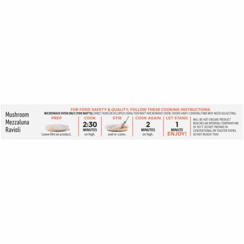 Lean Cuisine® Features Mushroom Mezzaluna Ravioli Frozen Meal Perspective: top