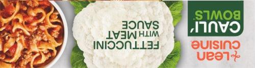 Lean Cuisine Cauli'Bowls Fettucini with Meat Sauce Cauliflower Pasta Frozen Meal Perspective: top