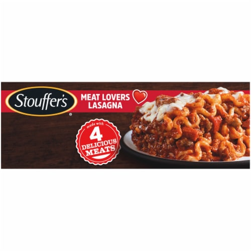 Stouffer's Meat Lovers Lasagna Frozen Meal Perspective: top