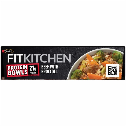 Stouffer's Fit Kitchen Beef with Broccoli Protein Bowl Frozen Meal Perspective: top