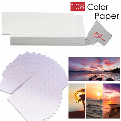 Canon Selphy KP-108IN Color Ink Paper Set 108 4x6 Photo Sheets 3 Toners 3115B001 Perspective: top