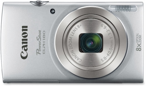 Canon PowerShot Digital Camera with Optical Zoom - Silver Perspective: top