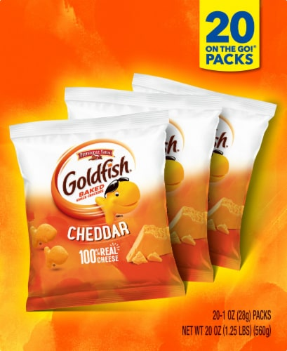 Goldfish Cheddar Baked Snack Crackers Perspective: top