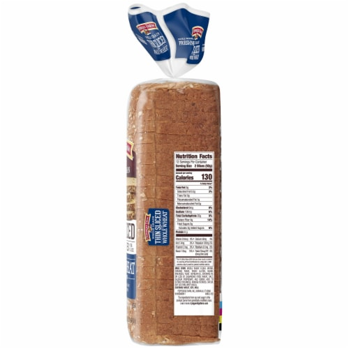 Pepperidge Farm Thin Sliced Whole Wheat Whole Grain Bread Perspective: top