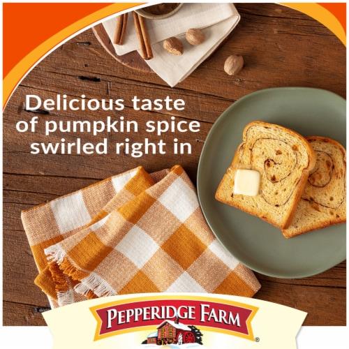 Pepperidge Farm Pumpkin Spice Swirl Bread Perspective: top