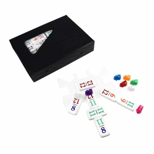 University Games Premium Double 12 Set Dominoes Perspective: top