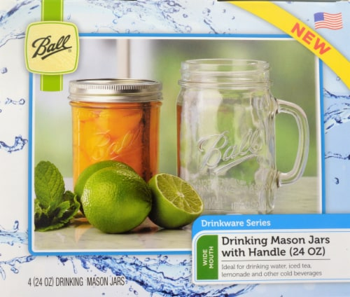 Ball® Drinking Mason Jars - 4 Pack Perspective: top
