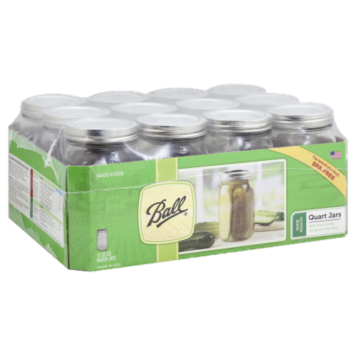 Ball® Wide Mouth Quart Jars Perspective: top