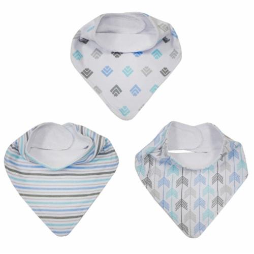 neat solutions Bandana Baby Bib Set - Blue Perspective: top