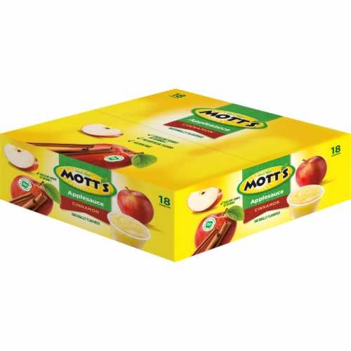 Mott's Cinnamon Applesauce Cups 18 Count Perspective: top