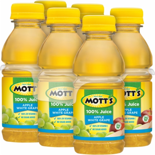 Mott's 100% Apple White Grape Juice Perspective: top