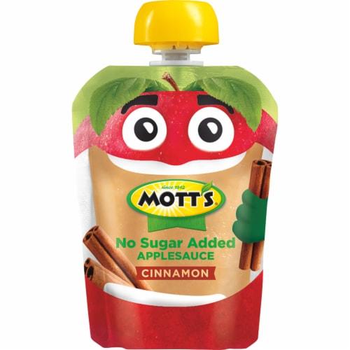 Mott's No Sugar Added Cinnamon Applesauce Perspective: top