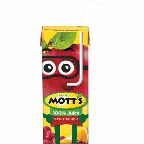 Mott's® Fruit Punch 100% Juice Boxes Perspective: top