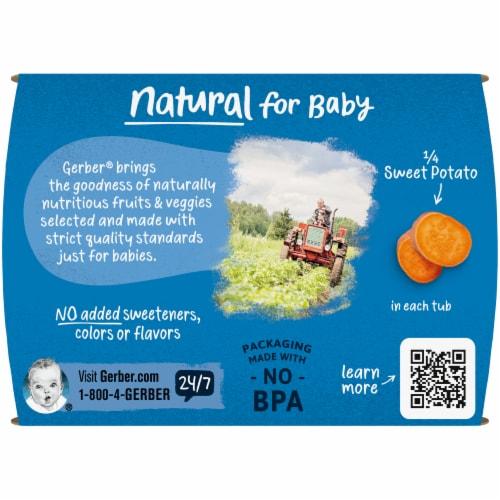 Gerber® Sweet Potato Stage 1 Baby Food Perspective: top