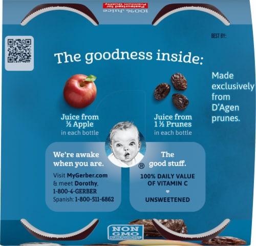 Gerber Toddler Apple Prune Juice Perspective: top