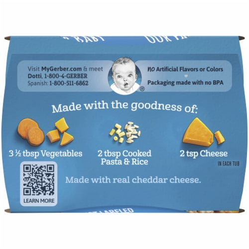 Gerber® 2nd Foods® Mac & Cheese with Vegetables Dinner Baby Food Perspective: top