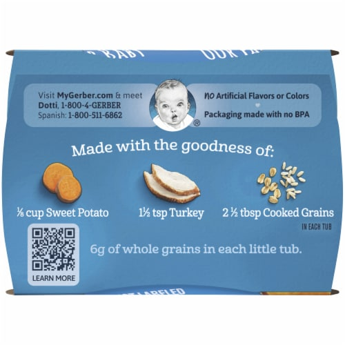 Gerber® 2nd Foods® Sweet Potato Turkey with Whole Grains Dinner Baby Food Perspective: top