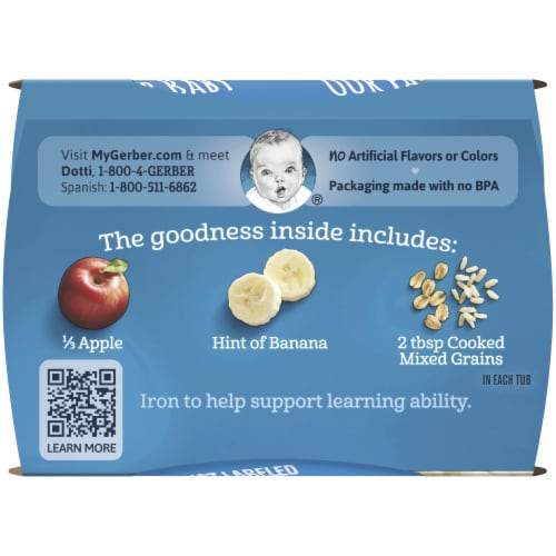 Gerber 2nd Foods Apple & Banana with Mixed Cereal Baby Food Perspective: top