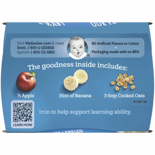Gerber® 2nd Foods Apple Banana with Oatmeal Cereal Stage 2 Baby Food Perspective: top