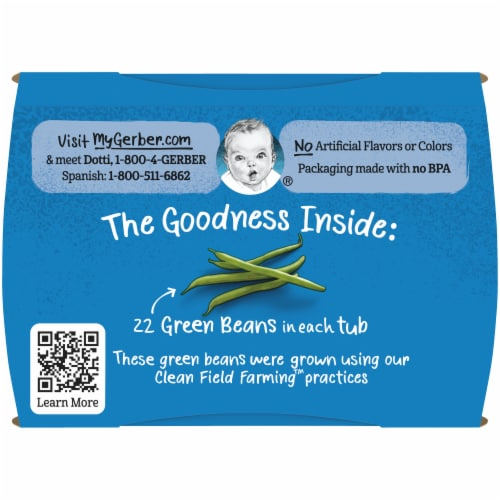 Gerber® 2nd Foods® Green Bean Stage 2 Baby Food Perspective: top
