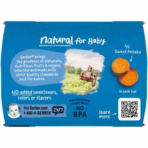 Gerber® 2nd Foods® Sweet Potato Stage 2 Baby Food Perspective: top