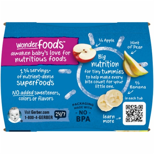 Gerber 2nd Foods Banana Apple & Pear Stage 2 Baby Food Perspective: top