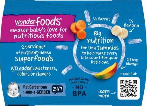Gerber 2nd Foods Banana Carrot & Mango Baby Food Perspective: top