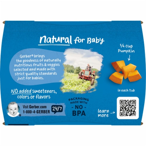 Gerber® 2nd Foods Pumpkin Baby Food Perspective: top