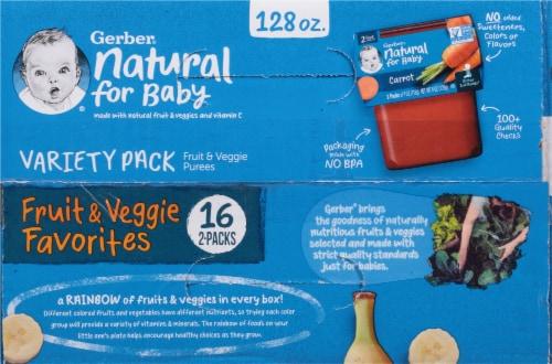 Gerber 2nd Foods Fruit & Veggie Favorites Variety Pack Perspective: top
