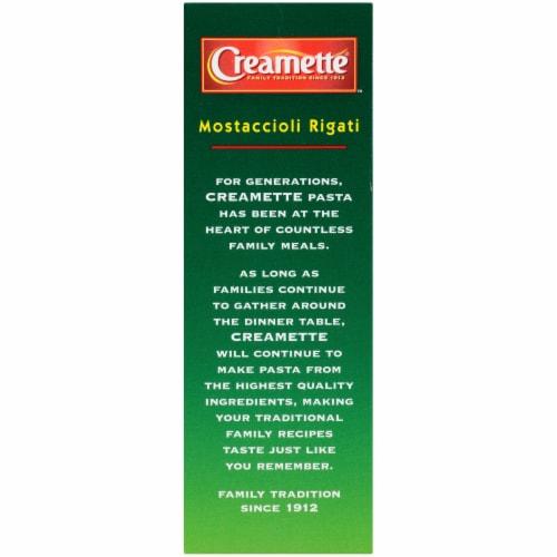 Creamette Mostaccioli Rigati Pasta Perspective: top