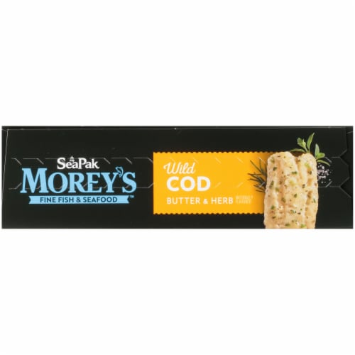 Morey's Butter & Herb Cod Fillets Perspective: top