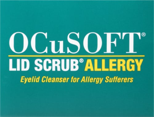 OCuSOFT® Lid Scrub Allergy Eyelid Cleanser Pads Perspective: top