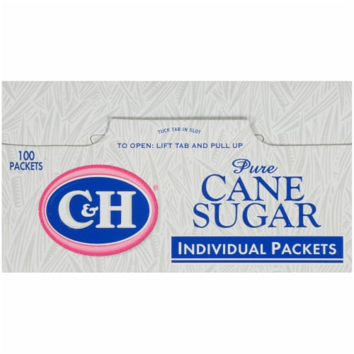 C&H Pure Cane Sugar Packets Perspective: top
