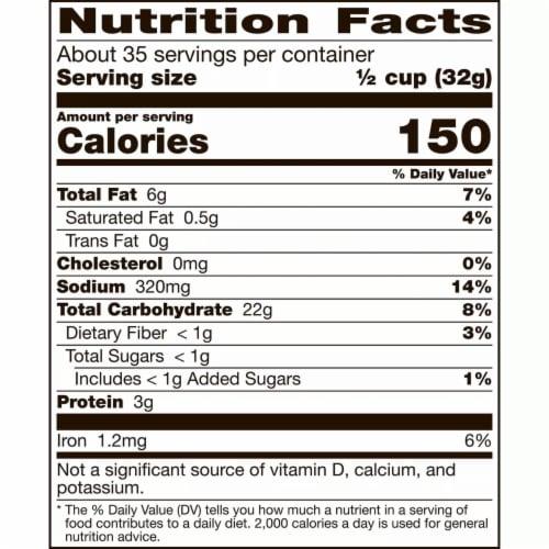 Gardetto's Original Recipe Snack Mix (32 Ounce) Perspective: top