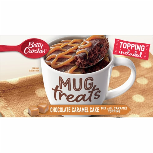 Betty Crocker Mug Treats Chocolate Caramel Cake Mix 4 Count Perspective: top